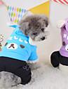 Chien Pulls a capuche Vetements pour Chien Mode Dessin Anime Violet Vert Bleu