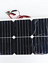 zdm® 20w 12v de saida 1.35A silicio monocristalino painel solar (dc12-18v)