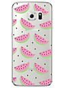 Coque Pour Samsung Galaxy Samsung Galaxy S7 Edge Transparente / Motif Coque Fruit Flexible TPU pour S7 edge / S7 / S6 edge plus