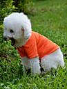 Chien Tee-shirt Vetements pour Chien Couleur Pleine Jaune Rouge Vert Bleu Rose Coton Costume Pour les animaux domestiques Homme Femme