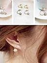 Femme Boucles d\'oreille goujon Classique bijoux de fantaisie Perle Strass Ceramique Alliage Bijoux Pour Soiree Quotidien Decontracte