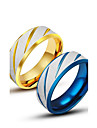 Men\'s Rings Personality Titanium Steel Ring Blue Gold Band Ring for Men Fashion Jewelry Gift