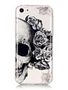 TPU Material + IMD Technology Skull Pattern Painted Relief Phone Case for iPhone 6s Plus / 6 Plus/SE / 5s / 5/5C