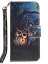 Pour Coque iPhone 7 Coque iPhone 6 Portefeuille Porte Carte Avec Support Clapet Coque Coque Integrale Coque Animal Dur Cuir PU pour Apple