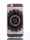 TPU Material Bilateral Flower Black Pattern Soft Shell Phone for iPhone 7 Plus/7/6s Plus / 6 Plus/6S/6/SE / 5s/5/5C