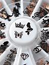 1 pcs Nail Jewelry / Metalik / 3D Flake Tırnak Tasarımı Tasarımı Basit / Metal Uç Kısım / alaşım