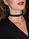 여성용 레이스 초커 목걸이 문신 초커 - 타투 스타일 빈티지 귀여운 파티 캐쥬얼 섹시 패션 Circle Shape 블랙 목걸이 제품 파티 일상 캐쥬얼