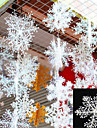 30Pcs Christmas Snow flakes White Snowflake Ornaments Holiday Christmas Tree Decortion Festival Party