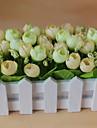1 Κλαδί Πολυεστέρας Τριαντάφυλλα Λουλούδι για Τραπέζι Ψεύτικα λουλούδια