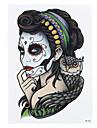 1pc Flour Women Makeup Owl Femme Fatale Women Men Body Art Tattoo Waterproof Temporary Tattoo Sticker HB-281