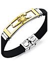 Men\'s ID Bracelet - Personalized, Vintage, Punk Bracelet Silver / Golden For Christmas Gifts / Gift / Daily
