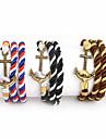 Homme Bracelets Mode bijoux de fantaisie Nylon Alliage Ancre Bijoux Pour Quotidien Decontracte Sports Regalos de Navidad