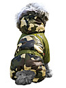 Cat Dog Coat Hoodie Outfits Dog Clothes Keep Warm Windproof Fashion Camouflage Brown Red Green Blue Blushing Pink