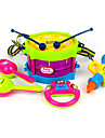 Барабанная установка Бубен Динамик Ручные колокола Обучающая игрушка Барабанная установка Классический пластик ABS 5pcs Детские Дети