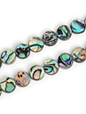 Beadia 10mm Round Natural Abalone Sea Shell Beads (38cm/approx 39pcs)