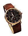 Мужской Нарядные часы Модные часы Наручные часы Фосфоресцирующий Кварцевый Кожа Группа Повседневная Черный Коричневый