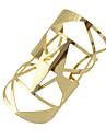 Manchettes Bracelets Femme Gros Fantaisie dames Mode Bracelet Bijoux Argent Dore Forme Geometrique pour Soiree Quotidien