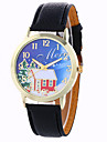 Women\'s Fashion Analog Stripe Ladies\' Christmas Snowflake Display Strap Bohemia Quartz Wrist Watch