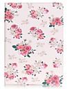 Для Кошелек / Бумажник для карт / со стендом / С узором Кейс для Чехол Кейс для Цветы Твердый Искусственная кожа SamsungTab E 9.6 / Tab A