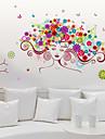 Personnage Mode Floral Stickers muraux Autocollants avion Autocollants muraux decoratifs Decoration d\'interieur Calque Mural Mur