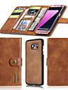 케이스 제품 Samsung Galaxy S7 edge S7 지갑 카드 홀더 오리가미 마그네틱 풀 바디 한 색상 하드 천연 가죽 용 S7 edge S7