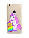 Case For Apple iPhone X / iPhone 8 Plus / iPhone 7 Translucent / Pattern Back Cover Unicorn Soft TPU for iPhone X / iPhone 8 Plus / iPhone 8