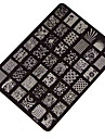 1 pcs Stamping Plate Template Fashion Daily / Steel