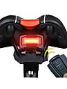 Luz Traseira Para Bicicleta LED Ciclismo Controle Remoto / Super Leve / alarme / Smart Bateria de Litium 100 Lumens Bateria Vermelho