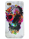 Capinha Para Apple iPhone 6 iPhone 7 Plus iPhone 7 Estampada Capa traseira Caveiras Macia TPU para iPhone 7 Plus iPhone 7 iPhone 6s Plus