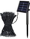 Jiawen 8 modos de 10m 100 leds arrefecer energia solar impermeavel ao ar livre branco ou branco quente LED luzes da corda