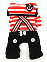 Dog Costume Jumpsuit Dog Clothes Cute Cosplay Sailor Black Red Costume For Pets