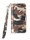 Coque Pour Samsung Galaxy S7 edge S7 Porte Carte Antichoc Coque Integrale Camouflage Dur Cuir PU pour S7 edge S7 S6 edge S6