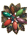 Women\'s Brooches - Crystal, Imitation Diamond Flower, Flower Shape Brooch Brown / Blue / Assorted Color For Party / Daily / Casual