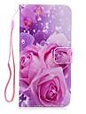 용 지갑 / 카드 홀더 / 스탠드 / 플립 케이스 뒷면 커버 케이스 꽃장식 하드 인조 가죽 용 Apple 아이폰 7 플러스 / 아이폰 (7) / iPhone 6s Plus/6 Plus / iPhone 6s/6 / iPhone SE/5s/5