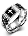 Men\'s Ring European Stainless Steel Cross Jewelry Wedding Party Daily Casual Sports