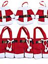 6шт / 3set Рождественский набор столовых приборов декоративный набор столовых приборов из рабочего стола