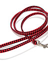 Dog Leash Adjustable/Retractable / Handmade Solid Red / Black / White / Pink / Rainbow PU Leather