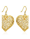 Women\'s Drop Earrings Jewelry Basic Gold Plated Heart Jewelry For Wedding Party Daily Casual