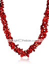 Women\'s Crystal Beaded Necklace Crystal Flower Ladies Fashion Rainbow Red Necklace Jewelry For Party Casual