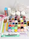 42PCS Acrylic Powder Brush Glitter Clipper File Nail Set 3 Nail Art Dotting Pens 3 Nail Glues 4-way Buffer Block 12 Mylar Glitter Acrylic Liquid