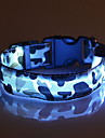 Cat Dog Collar LED Lights Adjustable / Retractable Camouflage Nylon Yellow Red Green Blue Pink