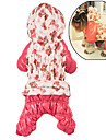 Dog Hoodie Jumpsuit Dog Clothes Floral / Botanical Rose Pink Cotton Costume For Winter Women\'s Casual / Daily Keep Warm