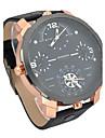 Муж. Нарядные часы Модные часы Наручные часы Спортивные часы Армейские часы Кварцевый Календарь С двумя часовыми поясами Кожа Группа