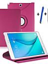 Para Com Suporte / Flip / Rotacao 360° Capinha Corpo Inteiro Capinha Cor Unica Rigida Couro PU Samsung Tab A 9.7