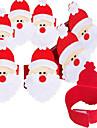 4pcs conjunto de nao-tecidos guardanapo de Santa anel Natal guardanapo