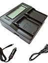 니콘 D3200의 d3300 D5100의 d5200의 D5300의 d5500 카메라 batterys에 대한 자동차 충전 케이블 ismartdigi의 el14의 액정 듀얼 충전기