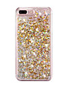 Pour iPhone 8 iPhone 8 Plus iPhone 7 iPhone 7 Plus iPhone 6 Etuis coque Liquide Coque Arriere Coque Brillant Dur Polycarbonate pour Apple