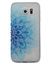 Кейс для Назначение SSamsung Galaxy S7 edge S7 Прозрачный С узором Задняя крышка Цветы Мягкий TPU для S7 edge S7 S6 edge S6 S5