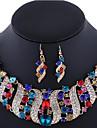 Women\'s Rhinestone Imitation Diamond Rose Gold Plated Jewelry Set 1 Necklace 1 Pair of Earrings - Luxury Jewelry Jewelry Set Earrings