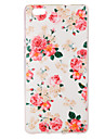 For Huawei Case / P8 Lite IMD Case Back Cover Case Flower Soft TPU Huawei Huawei P8 Lite